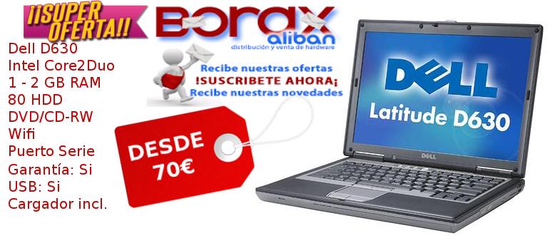 Dell D630 portatiles segunda mano