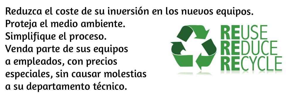 reciclaje ordenadores segunda mano